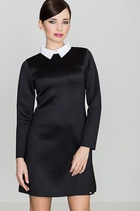 Sukienka LENITIF z długim rękawem w stylu casual mini
