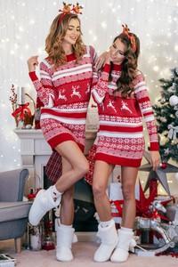 Sukienka Fobya w bożonarodzeniowy wzór