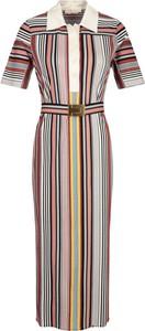 Sukienka Tory Burch maxi z krótkim rękawem