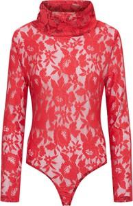 Czerwona bluzka Glamorous w stylu glamour z długim rękawem z golfem