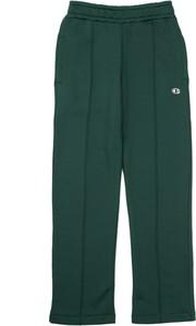 Zielone spodnie sportowe Champion z bawełny