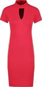 Sukienka Versace Jeans z krótkim rękawem mini ołówkowa