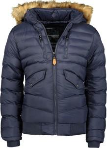 Niebieska kurtka Geographical Norway w stylu casual