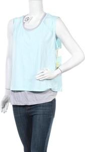 Niebieska bluzka Tangerine z długim rękawem z okrągłym dekoltem w stylu casual