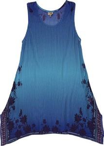 Niebieska sukienka Coline mini bez rękawów