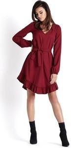 Sukienka Ivon z dekoltem w kształcie litery v asymetryczna w stylu casual