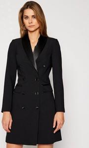 Czarna sukienka Guess by Marciano w stylu casual z długim rękawem mini