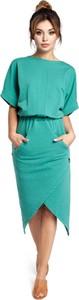 Zielona sukienka Be midi