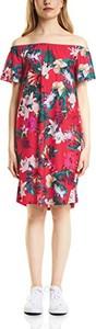 Różowa sukienka STREET ONE z krótkim rękawem