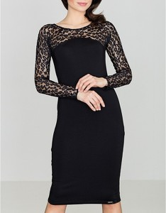 Sukienka LENITIF midi z długim rękawem