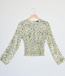 Bluzka Reserved w stylu casual z długim rękawem z okrągłym dekoltem
