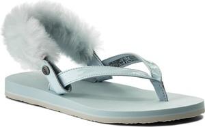 Niebieskie sandały ugg australia na obcasie