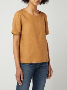 Brązowa bluzka Esprit z krótkim rękawem