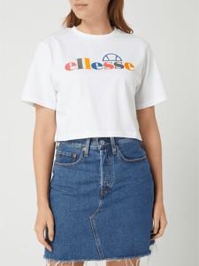 T-shirt Ellesse z okrągłym dekoltem w młodzieżowym stylu z krótkim rękawem