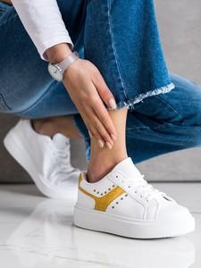 Buty sportowe Czasnabuty ze skóry z płaską podeszwą