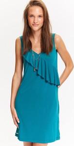 Zielona sukienka Top Secret asymetryczna mini na ramiączkach