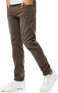Brązowe jeansy Dstreet w street stylu z jeansu