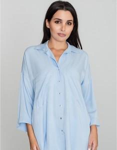 Niebieska koszula Figl z długim rękawem
