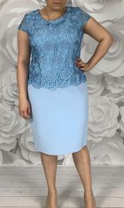 Sukienka Dorota z tkaniny midi