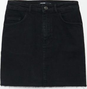 Czarna spódnica Cropp z jeansu w stylu casual