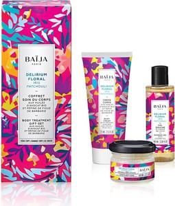 Baija, Delirium Floral Body Care, zestaw, krem do ciała, 75 ml + żel pod prysznic, 100 ml + peeling do ciała, 60g