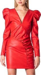 Czerwona sukienka ANIYE BY z długim rękawem mini