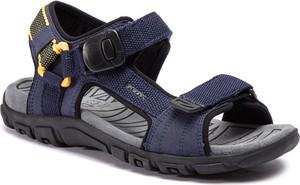 Buty letnie męskie Geox w sportowym stylu na rzepy
