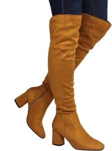 Pomarańczowe kozaki Seastar za kolano