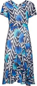 Sukienka Smashed Lemon z krótkim rękawem z dekoltem w kształcie litery v