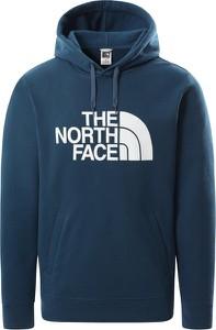 Granatowy sweter The North Face z plaru