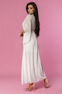 Sukienka Molerin z szyfonu gorsetowa