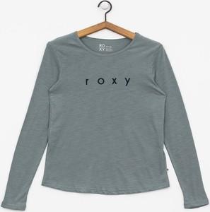 Bluzka Roxy z okrągłym dekoltem z bawełny