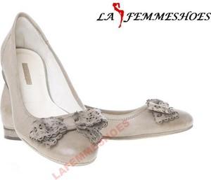 Baleriny Lafemmeshoes z płaską podeszwą w stylu casual ze skóry