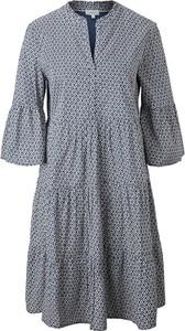 Sukienka S.Oliver z bawełny z dekoltem w kształcie litery v w stylu casual