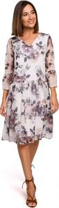 Sukienka Stylove w stylu casual z długim rękawem z dekoltem w kształcie litery v