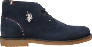 Granatowe buty zimowe U.S. Polo w stylu casual sznurowane