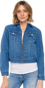 Niebieska kurtka Lee w stylu casual bez kaptura z jeansu