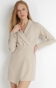 Sukienka born2be w stylu casual z dekoltem w kształcie litery v mini