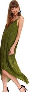 Sukienka Top Secret na ramiączkach maxi z tkaniny