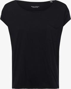 Czarna bluzka Marc O'Polo DENIM z krótkim rękawem z bawełny z okrągłym dekoltem