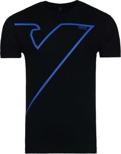 Czarny t-shirt Emporio Armani z bawełny z krótkim rękawem
