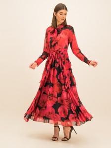 Sukienka Babylon maxi z długim rękawem