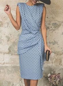 Sukienka Cikelly z okrągłym dekoltem w stylu casual bez rękawów