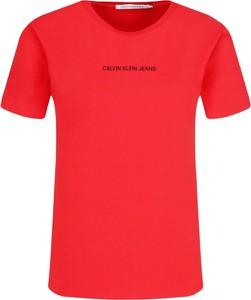 T-shirt Calvin Klein z krótkim rękawem w stylu casual