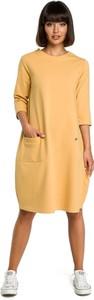 Żółta sukienka Merg midi