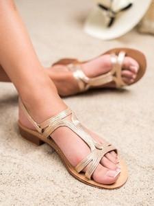 Sandały Czasnabuty z płaską podeszwą z klamrami w stylu casual