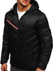 Czarna kurtka Denley w młodzieżowym stylu