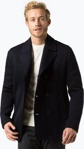Niebieska kurtka BOSS Casual w stylu casual z dzianiny