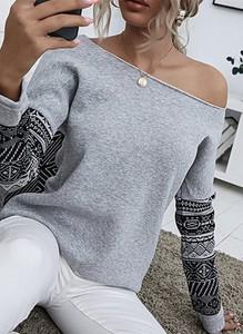 Bluzka Sandbella w stylu casual z okrągłym dekoltem