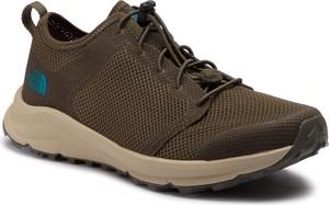 8db5651a Zielone buty trekkingowe The North Face sznurowane w sportowym stylu